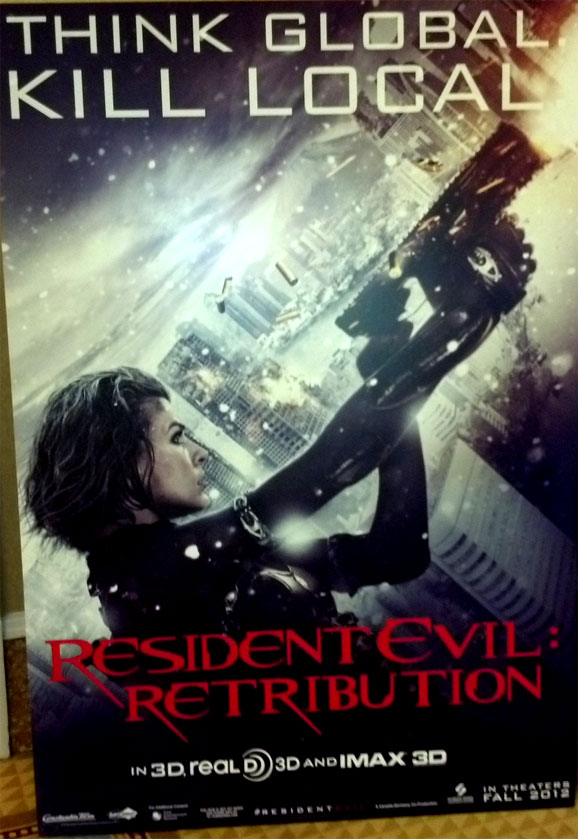 Resident Evil Retribution Poster Asks You To Think Global Kill Local