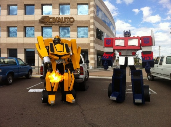 Heres a ten foot tall fire shooting bumblebee costume giant so solutioingenieria Choice Image