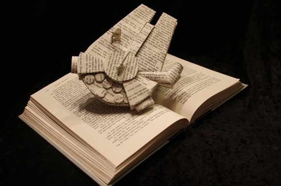 millennium_falcon_book_sculpture_by_wetcanvas-d5km9iv