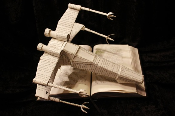 star_wars_x_wing_book_sculpture_by_wetcanvas-d5quh9q