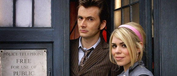 David Tennant and Billie Piper as the Tenth Doctor and Rose Tyler