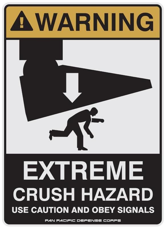 Pacific Rim Crush Hazard Poster