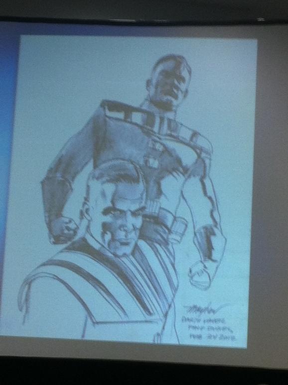 Concept art of Darth Vader