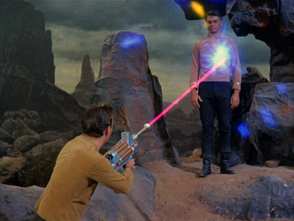 Kirk and his phaser rifle