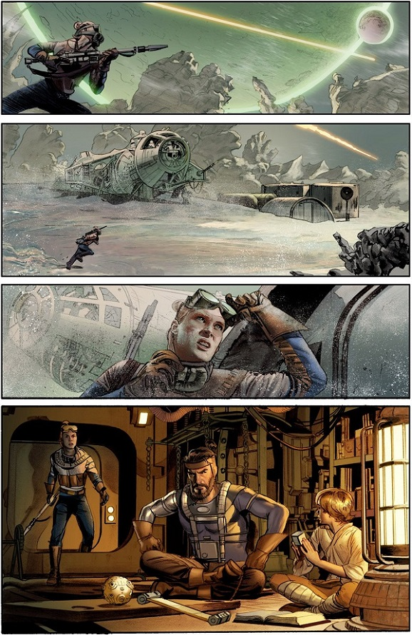 A page from the upcoming Dark Horse Star Wars adaptation