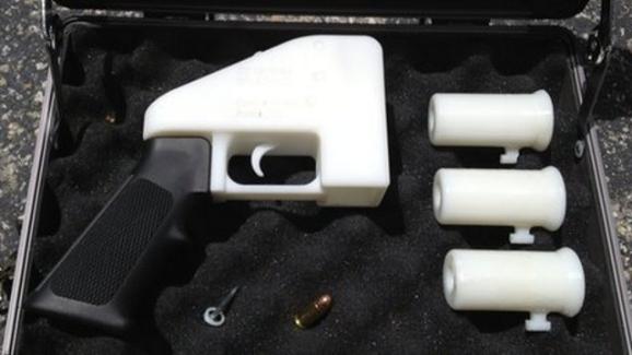 3D Handgun in Case
