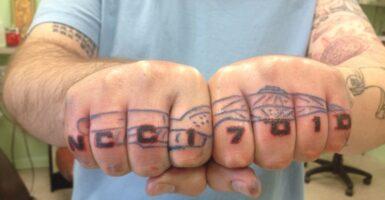Star Trek Knuckle Tattoo