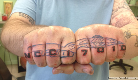 Star Trek Knuckle Tattoo