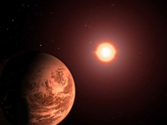 planet orbiting red dwarf