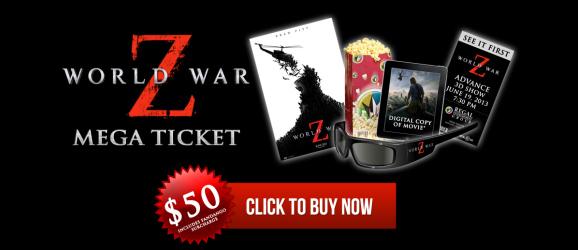 World War Z Mega Ticket