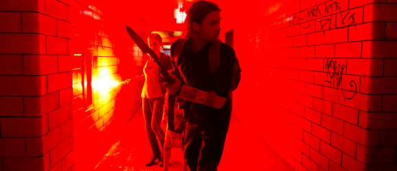 Brad Pitt in a Hallway
