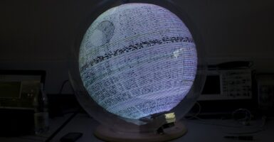 death star hologram