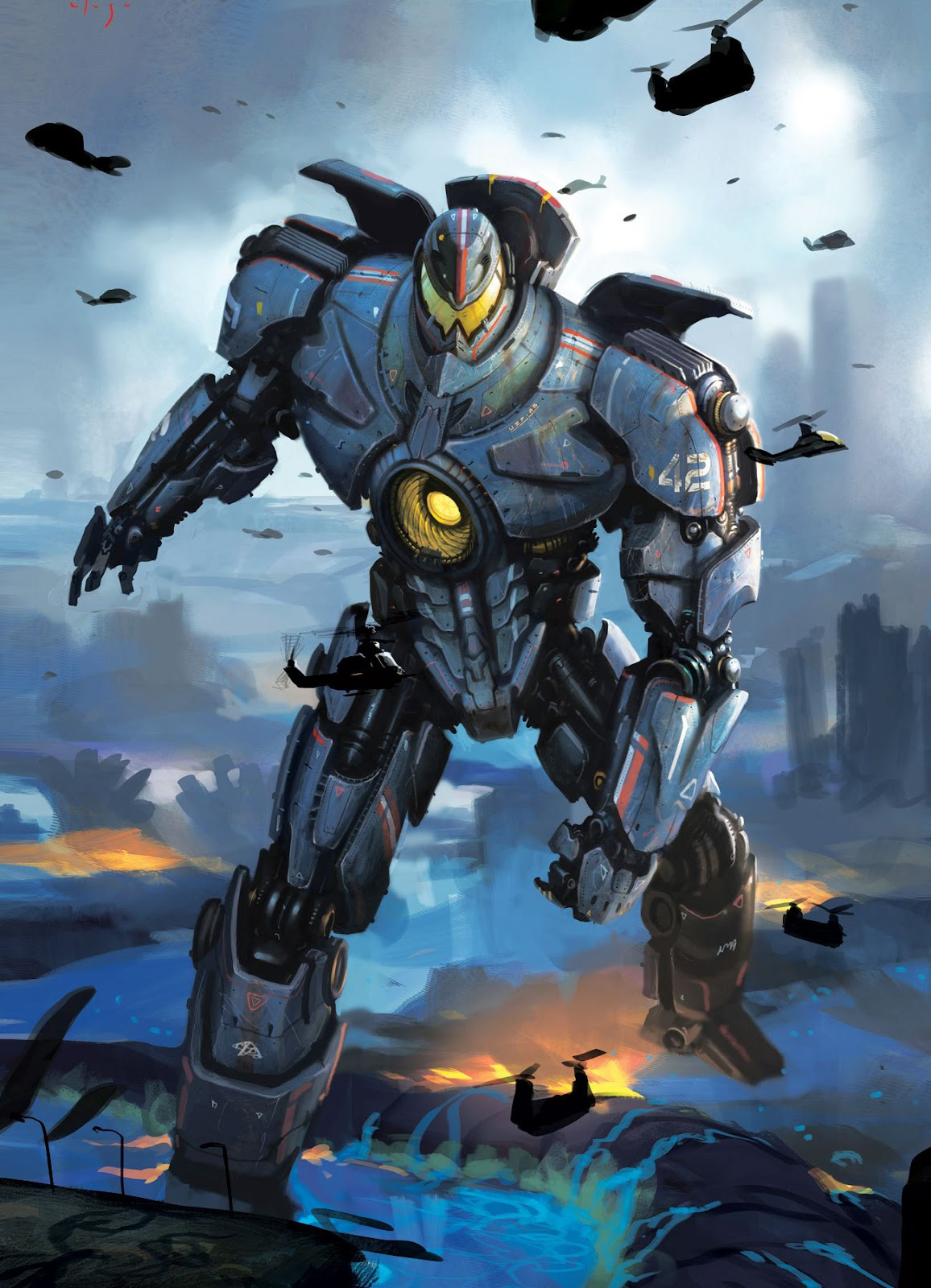 Pacific Rim Concept Art Is Awesome Even Without The Movie ... Pacific Rim Jaeger Concept Art