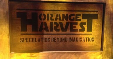 orange harvest crate