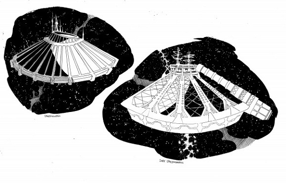 space mountain concept drawings
