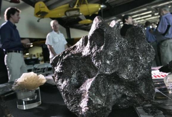 meteorite with metals