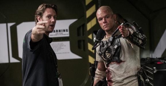 Blomkamp directing Damon