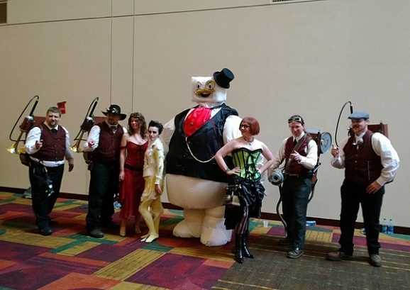 steampunk ghostbusters crowd