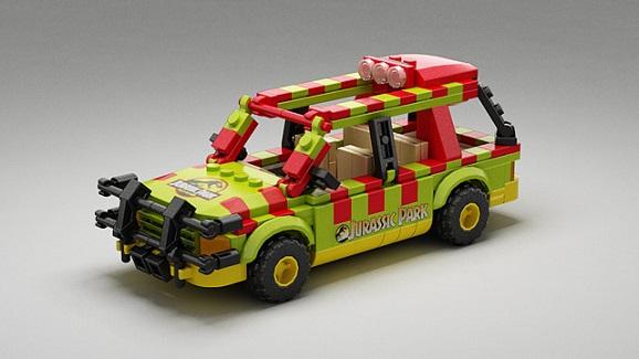 lego jurassic park vehicle