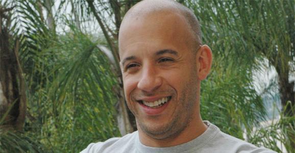 Vin Diesel smiles