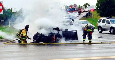 Model S crash
