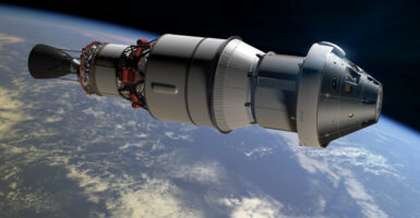 Orion capsule mock-up
