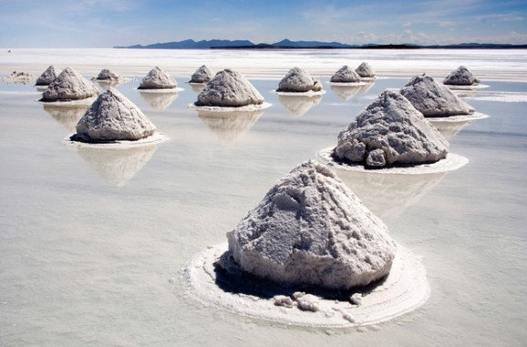 Salar de Uyuni, Bolivia--the world's largest salt flats