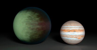 Kepler-7b next to Jupiter