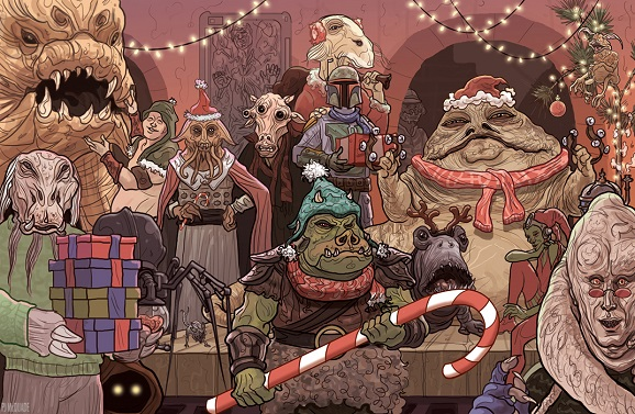 pj mcquade star wars christmas cards