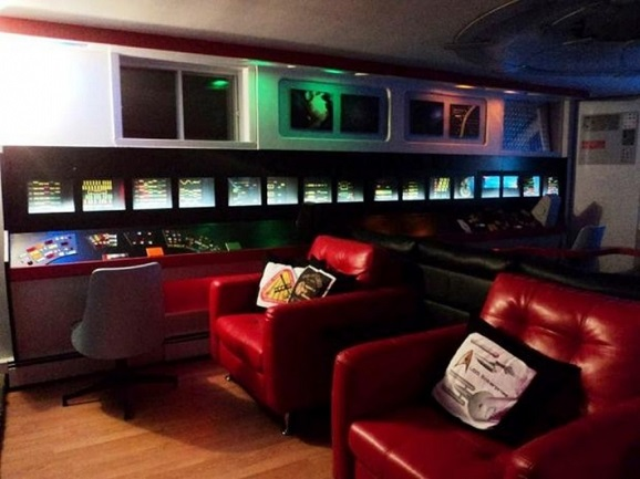 star trek fanatic creates the coolest basement theater ever