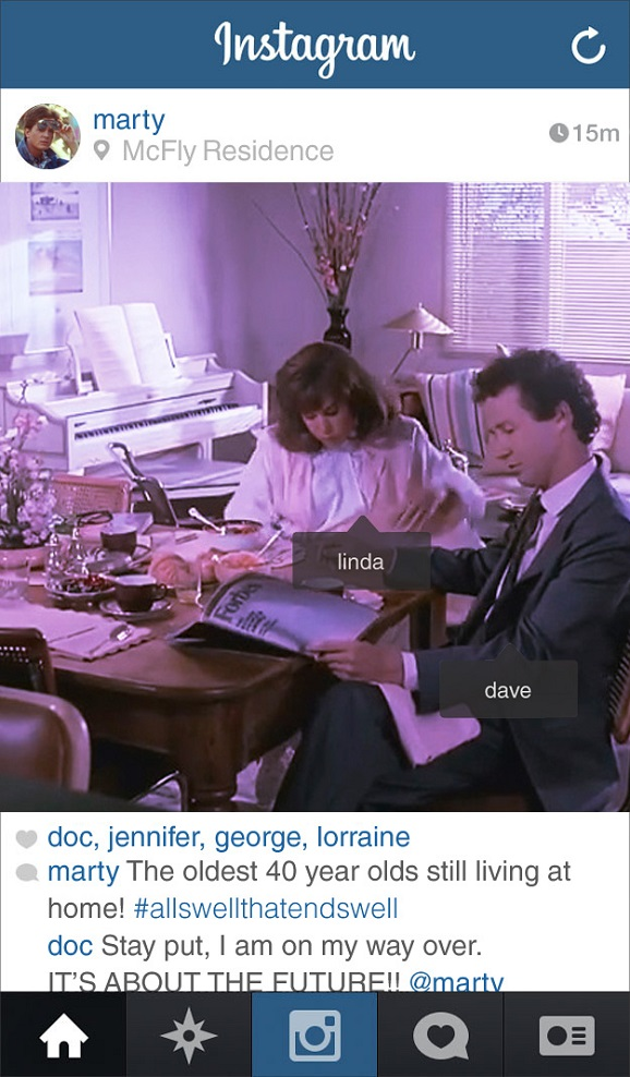 back to the future instagram