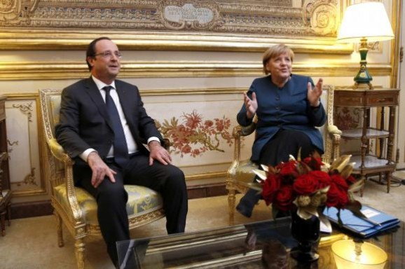 French President Francois Hollande and German Chancellor