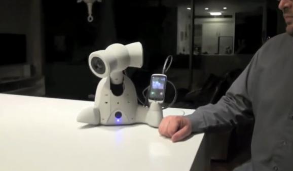 robot enjoying music