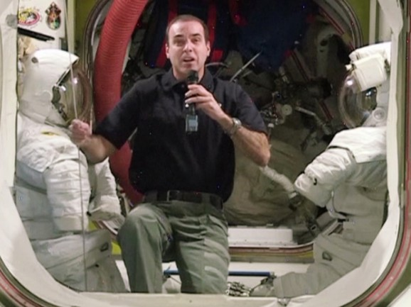 Astronaut Rick Mastracchio talks Superbowl