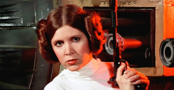 Leia as a female sci-fi character