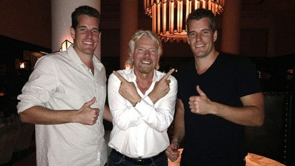 Richard Branson and Winklevosses