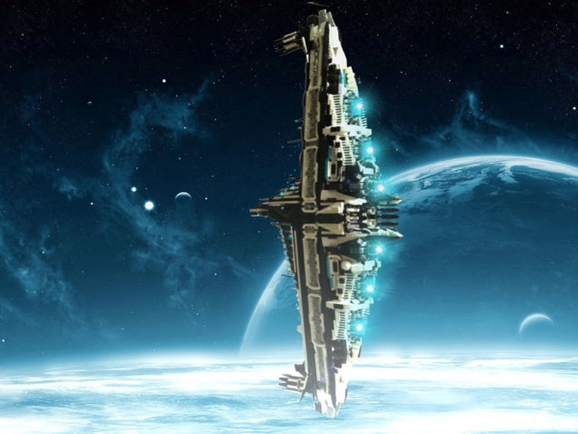Sci Fi Starships : Lego starships bring writer s sci fi novel to life giant