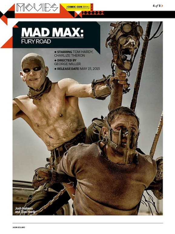 Mad Max Fury Road Reveals New Photos And Unusual