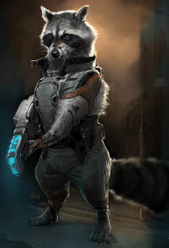 Guardians Of The Galaxy: Alternate Rocket Raccoon And A Look At A Surprise Guest