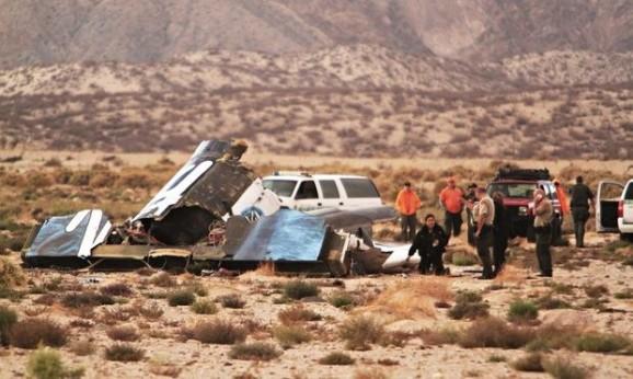 SpaceShipTwo wreckage