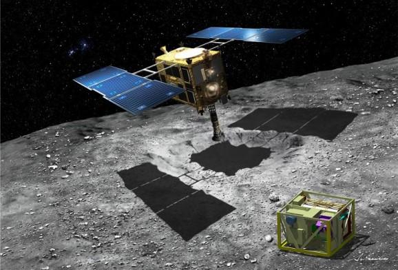 Hayabusa and MASCOT lander