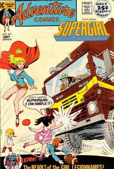 supergirl costume history-adventure comics 410