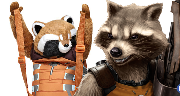 rocket raccoon backpack