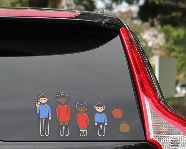 Star Trek Family Car Decals