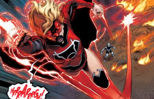 supergirl as red lantern
