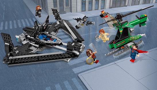batman vs superman lego sets aerial battle 2016