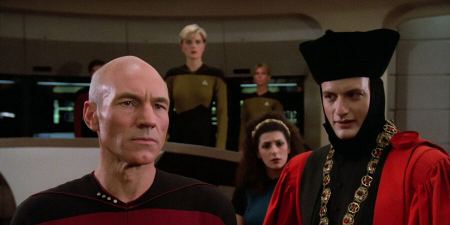 Picard in Encounter at Farpoint