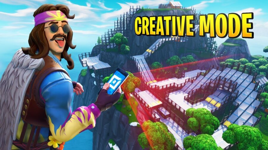 Kids creating in Fortnite