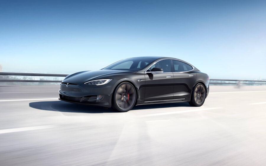 Tesla's luxury electric car
