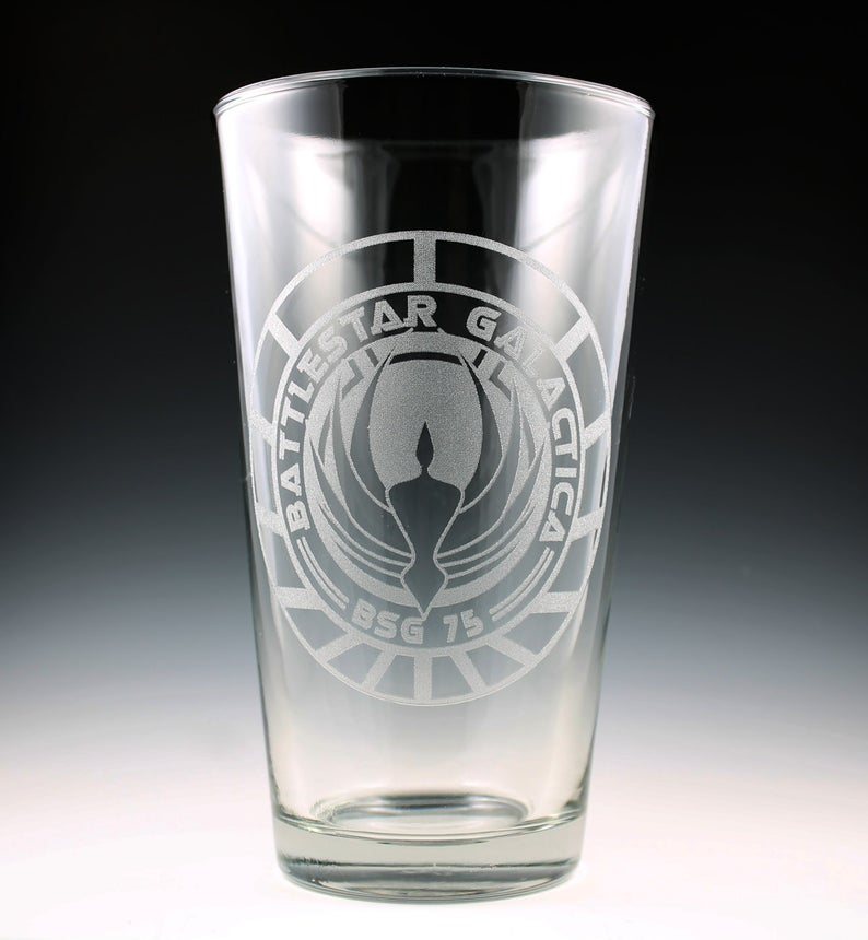 Battlestar Galactica pint glass